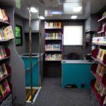 Bookmobile Interior Back View
